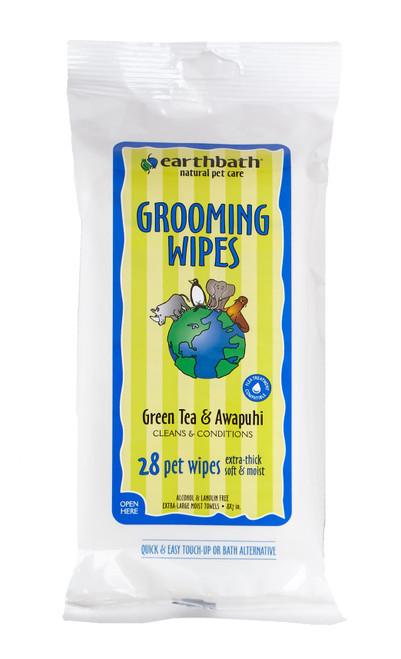 Earthbath Green Tea Grooming Wipes 28ct