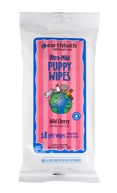 Earthbath Puppy Grooming Wipes 28ct
