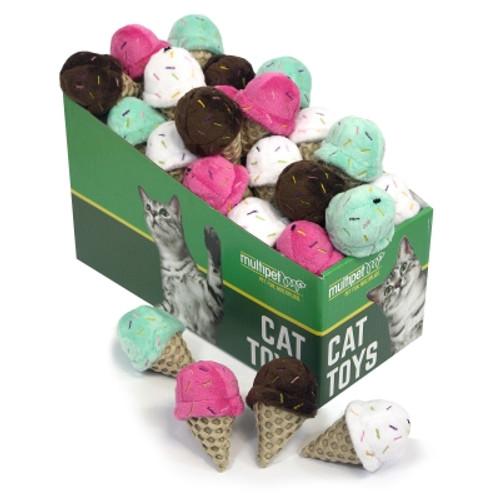 MultiPet Ice Cream Cat Toy Assorted Colors