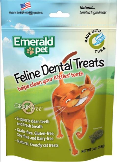 Emerald Pet Grain Free Feline Dental Treat Tuna Flavor 3oz