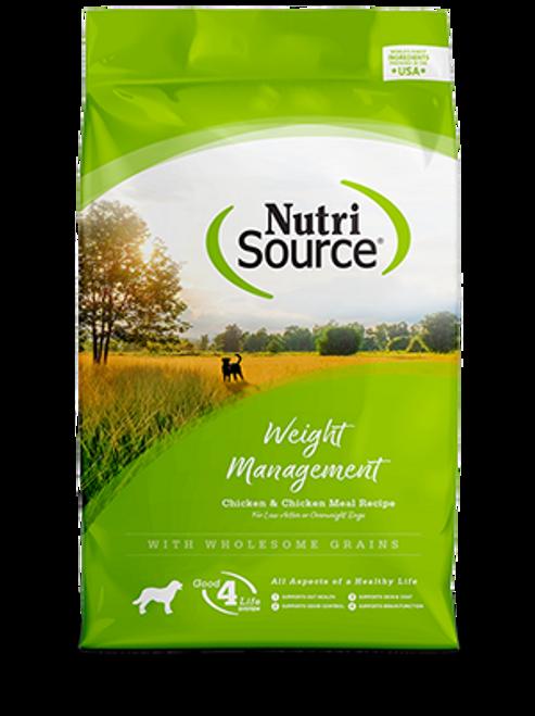 NutriSource Weight Management Chicken & Rice Formula