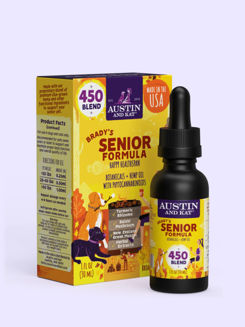Austin & Kat Brady's Senior CBD Oil For Dogs