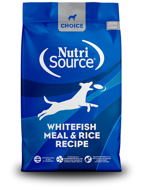 NutriSource Choice Whitefish Meal & Rice Recipe
