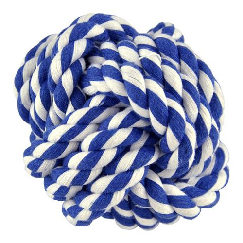 Amazing Pet Products Rope Ball Blue