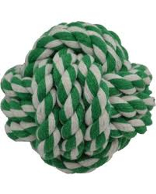Amazing Pet Products Rope Ball Green
