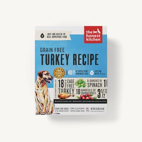 The Honest Kitchen Grain Free Turkey Dehydrated Recipe 10lb