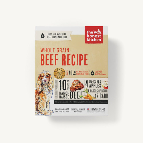 The Honest Kitchen Whole Grain Beef Dehydrated Recipe 10lb