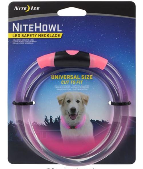 NiteHowl LED Safety Necklace Pink