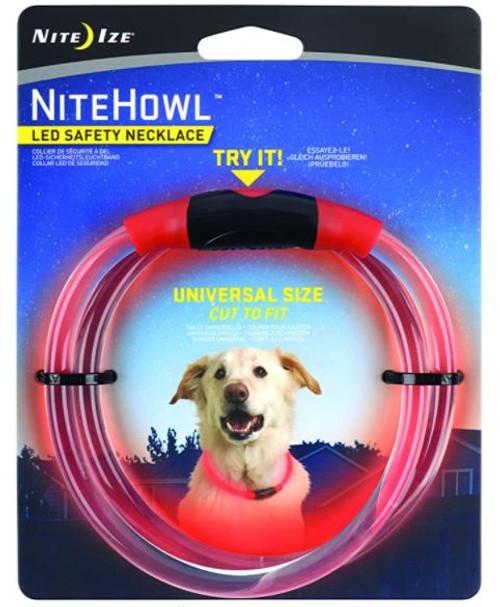 NiteHowl LED Safety Necklace Red