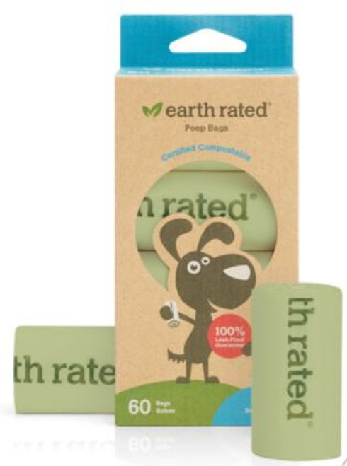 Earth Rated Certified Compostable Poop Bags 60ct