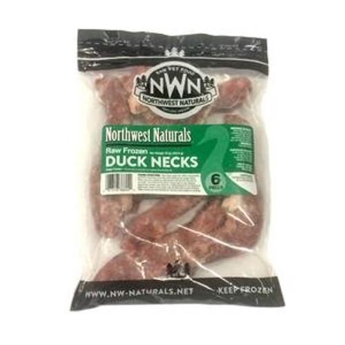 Northwest Naturals Raw Frozen Duck Necks 6ct