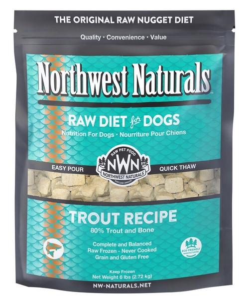 Northwest Naturals Frozen Raw Dog Food Trout Recipe Nuggets 6lb