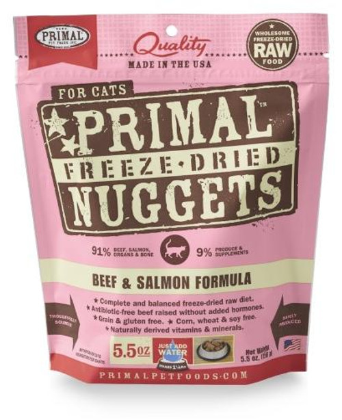 Primal Freeze-Dried Feline Beef & Salmon 5.5oz