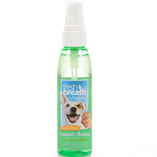 Tropiclean Fresh Breath Oral Care Peanut Butter Spray 4oz