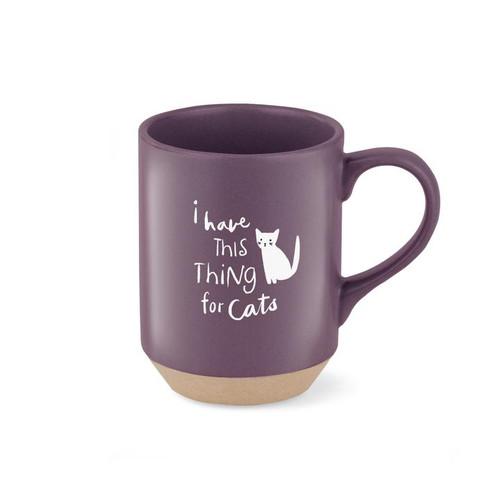 Pet Shop by Fringe Studio Stoneware Mug I Have This Thing For Cats 11oz
