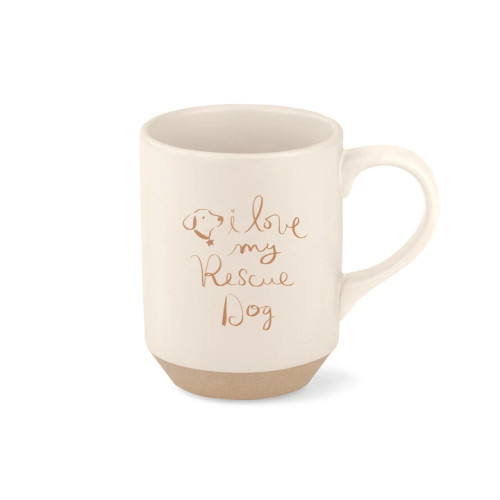 Pet Shop by Fringe Studio Stoneware Mug I Love My Rescue Dog 11oz