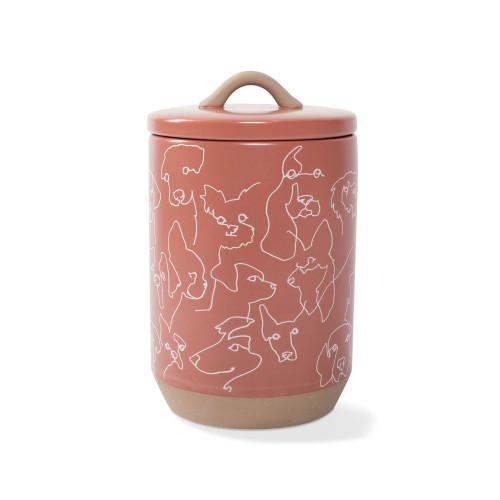 Pet Shop by Fringe Studio Stoneware Treat Jar Dog Outlines