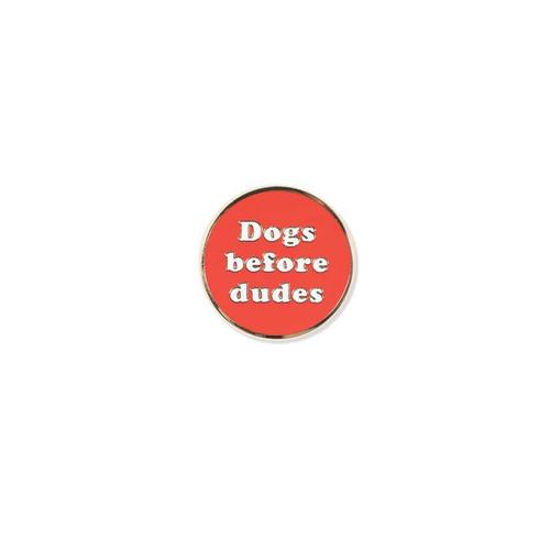 Pet Shop by Fringe Studio Dogs Before Dudes Enamel Pin
