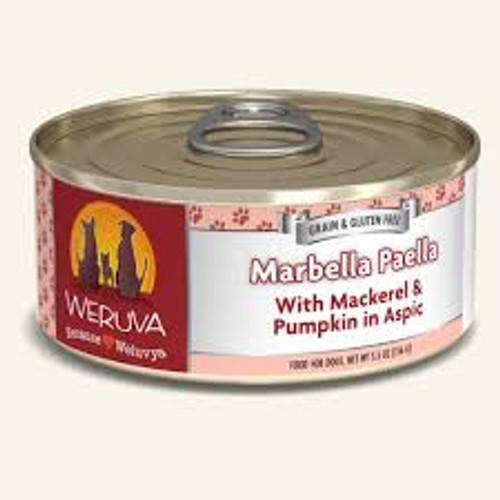 Weruva Marbella Paella With Mackerel & Pumpkin in Aspic 5.5oz