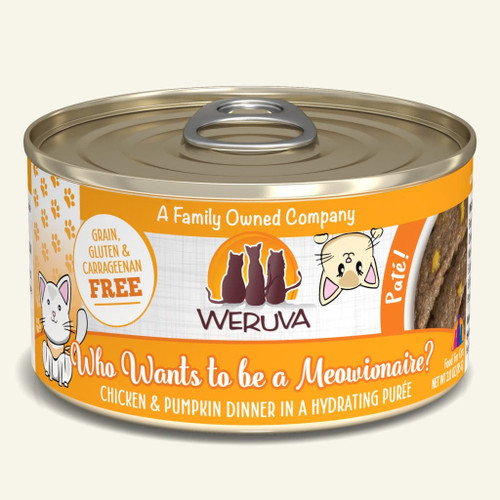 Weruva Who Wants to be a Meowionaire With Chicken & Pumpkin 3oz