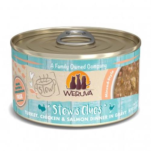 Weruva Cat Stew's Clues Turkey, Chicken & Salmon 2.8oz