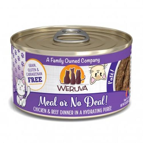 Weruva Cat Pate Meal or No Deal! Chicken & Beef Dinner 3oz
