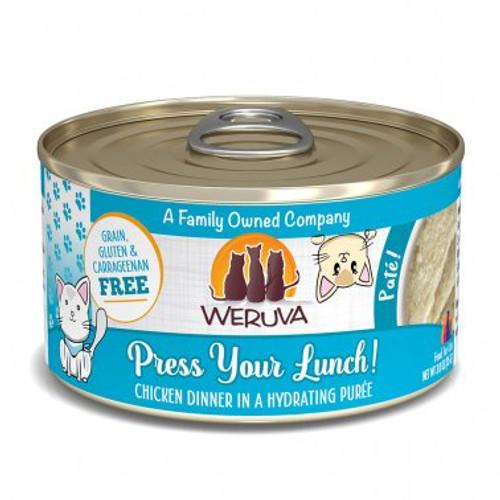 Weruva Cat Pate Press Your Lunch Chicken Dinner 2.8oz
