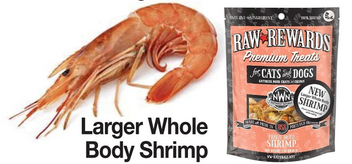 Northwest Naturals Raw Rewards Freeze Dried Shrimp 1oz
