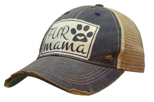 "Vintage Life Distressed Trucker Hat ""Fur Mama"""