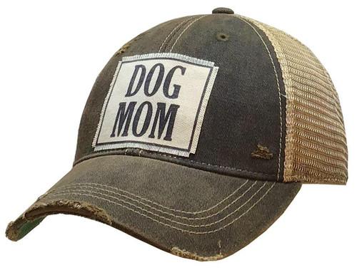 "Vintage Life Distressed Trucker Hat ""Dog Mom"""