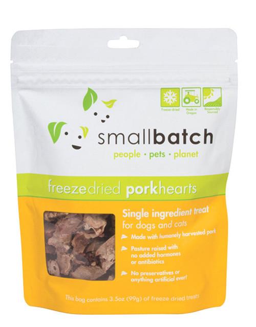 Small Batch Freeze Dried Pork Hearts 3.5oz