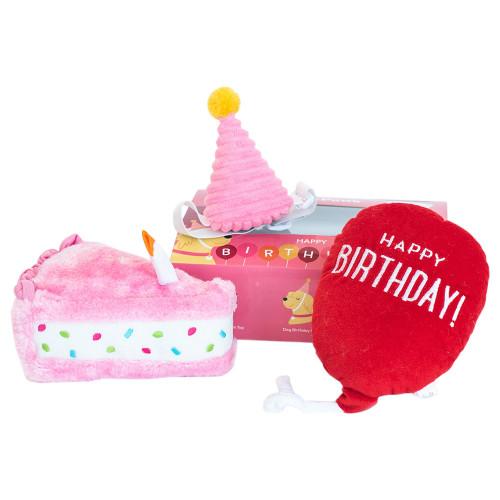 Zippy Paws Happy Birthday Box Pink