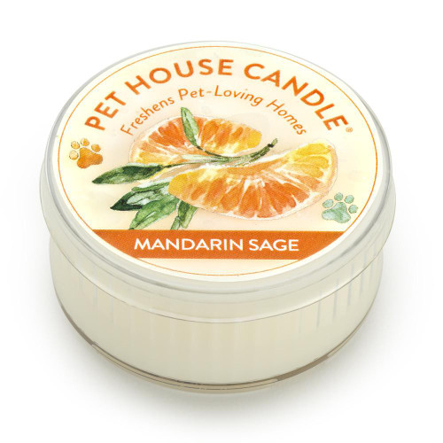 One Fur All Mandarin Sage Mini Candle