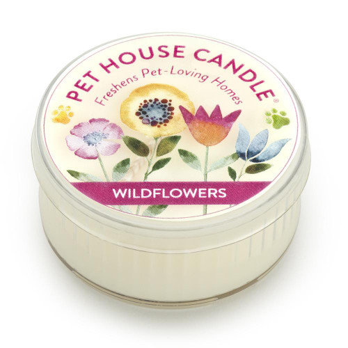 One Fur All Wildflowers Mini Candle