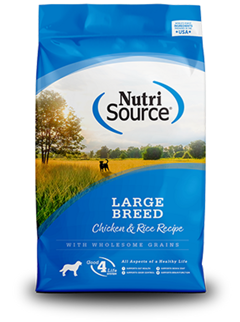 NutriSource Large Breed Adult Chicken & Rice Formula 30lb