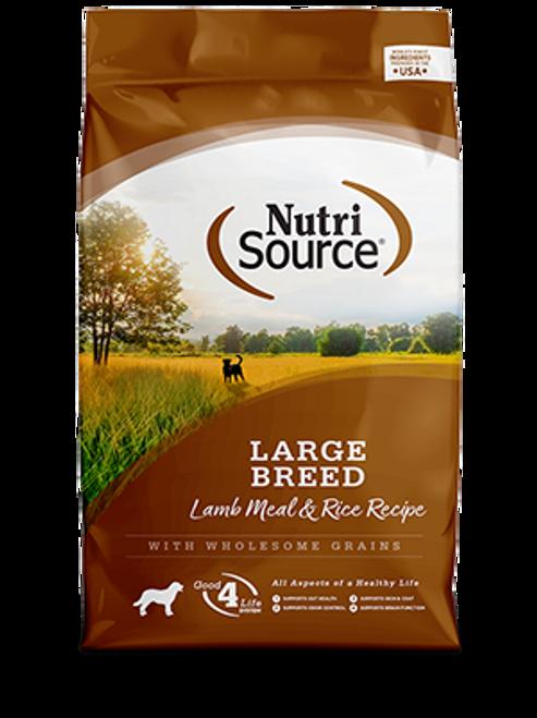 NutriSource Large Breed Adult Lamb Meal & Rice Formula 30lb