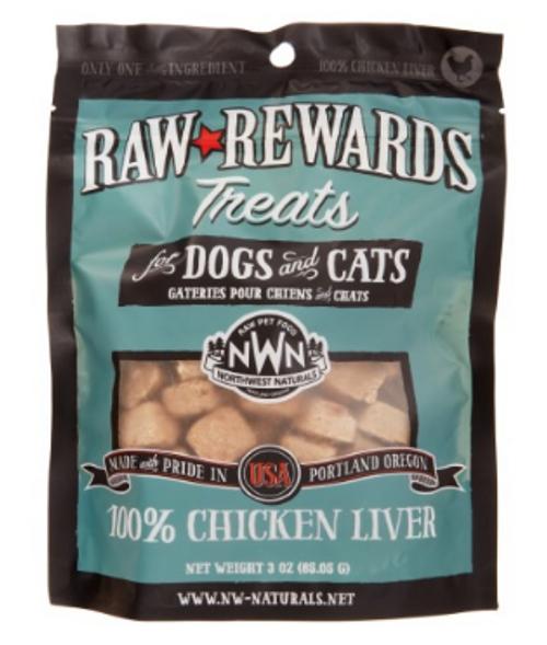 Northwest Naturals Raw Rewards Freeze Dried Chicken Liver Treats 3oz