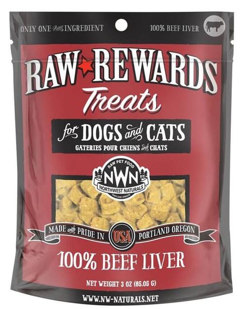 Northwest Naturals Raw Rewards Freeze Dried Beef Liver Treats 3oz