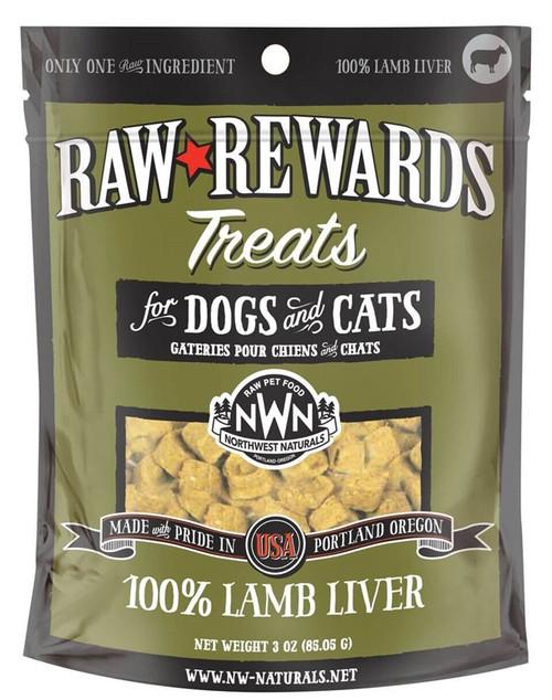Northwest Naturals Raw Rewards Freeze Dried Lamb Liver Treats 3oz