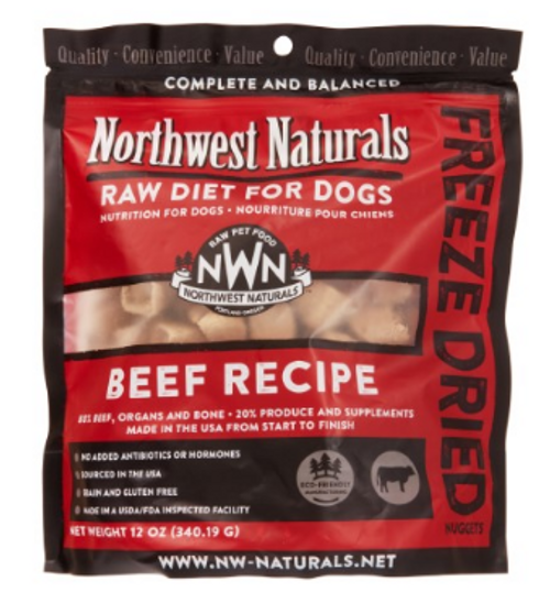 Northwest Naturals Freeze Dried Dog Food Beef Recipe 12oz