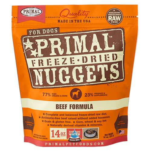Primal Beef Recipe Freeze Dried Dog Food 14oz