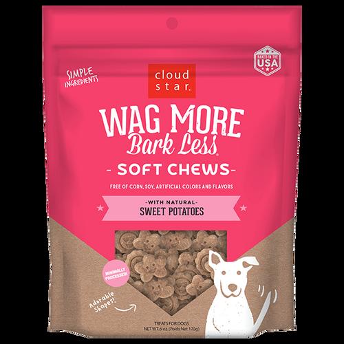 Cloud Star Wag More Bark Less Soft Treats Sweet Potatoe  6 oz