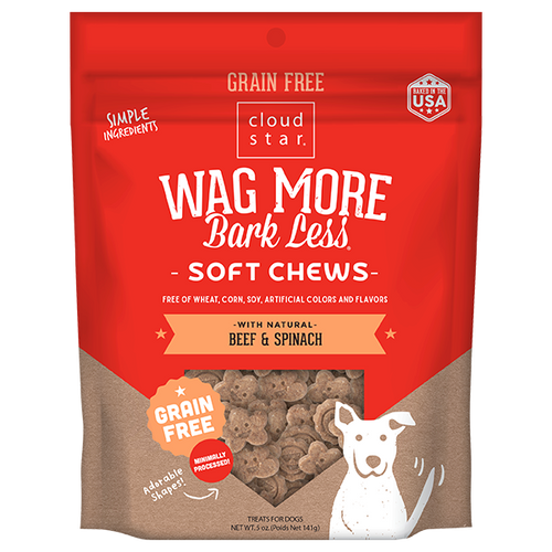 Cloud Star Wag More Bark Less Soft GF Beef & Spinach 6oz
