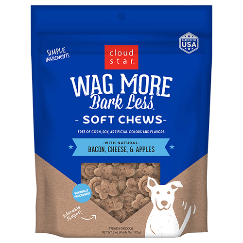 Cloud Star Wag More Bark Less Soft Bacon, Cheese, Apples 6oz