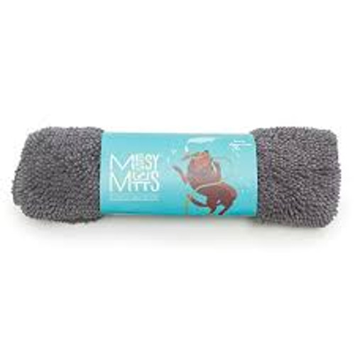 Messy Mutts Microfiber Drying Mat & Towel Cool Grey