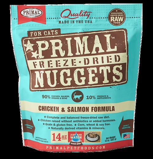 Primal Freeze-Dried Feline Chicken & Salmon 14oz
