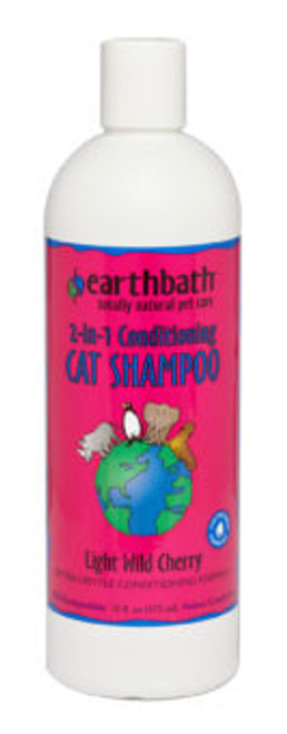 Earthbath 2-in-1 Conditioning Cat Shampoo Light Wild Cherry 16oz