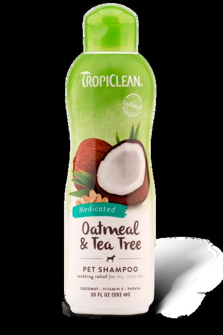 Tropiclean Oatmeal & Tea Tree Shampoo 20 oz