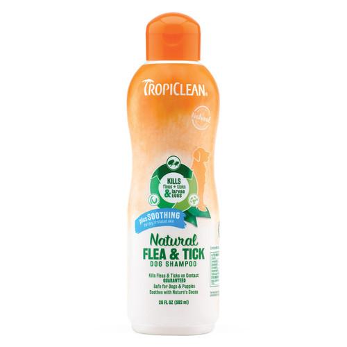 Tropiclean Natural Flea & Tick Shampoo 20 oz