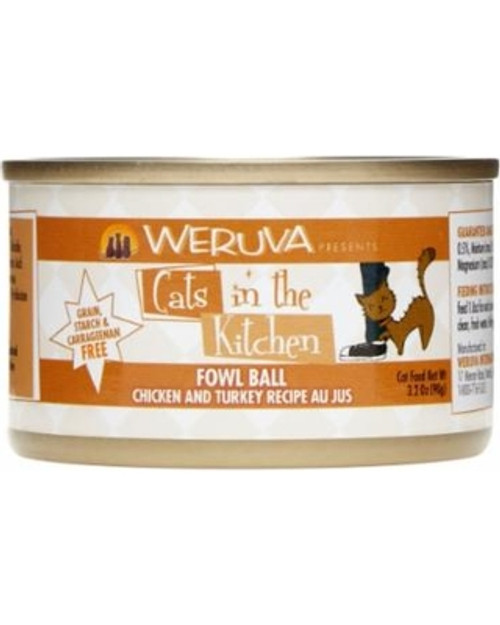 Weruva Cats in the Kitchen Fowl Ball- Chicken & Turkey in Au Jus